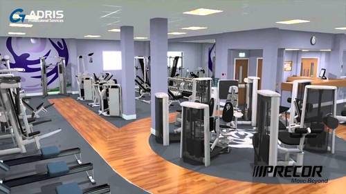 Commercial interior design services gym