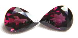 Rhodolite Garnet Faceted Pear Pair Gemstone