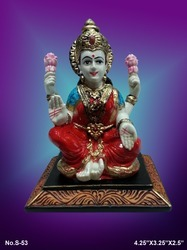 Multicolor Fibre Laxmi Statue, For Home