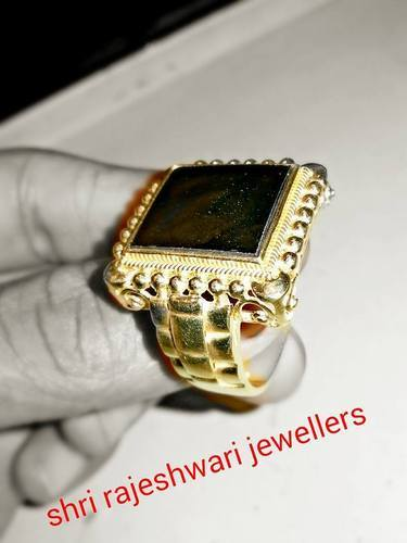 Rings Green Stone Gold Ring Retailer from Hyderabad