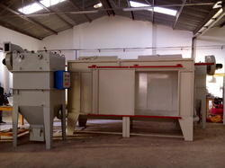 Powder Spray Booth with Recovery Cyclone