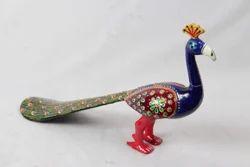 Metal Painted Peacock