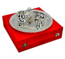 Pooja Thali Silver Plated