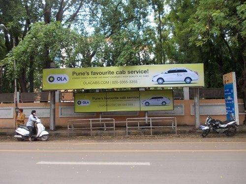 Bus Stop Shelter And Bus Panel Advertisement Pune Bus
