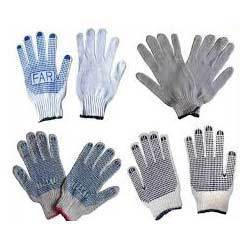 Cotton Dotted  Safety Gloves