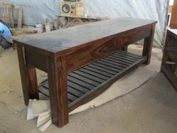 Block TV Table with Rack