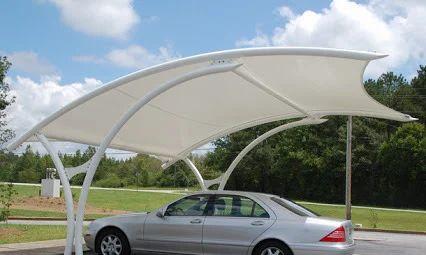 Car Parking Tensile Fabric Structure 1 Abi Decor Chennai Id