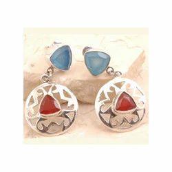 Petite Red Onyx Earrings