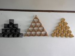 Solid Pyramid Set Of 3 (Brass Copper Lead)