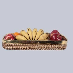 Wicker Rectangular Fruit Tray