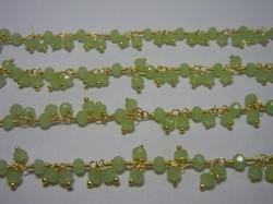 Green Chalcedony Gemstone Dangle Chain