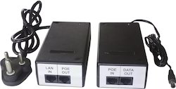 Power Over Ethernet (POE) Midspan Injector & Splitter Adaptor