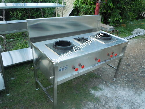 Stainless Steel Used Indian Cooking Range