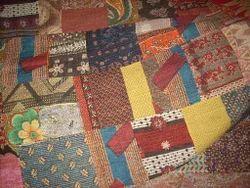 Block Printed Kantha Quilt