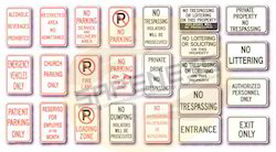 Parking Safety Signs