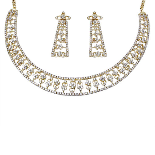 Bridal Gold Diamond Necklace