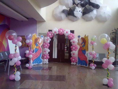 Birthday Party Balloon Decoration and Lighting Decoration Service