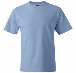 Men Polyester Grey Plain T Shirts