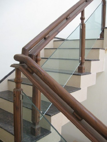 Wood Stair Railing Design In India Photos Freezer And