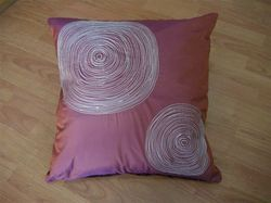White Spiral Design Cushion Cover