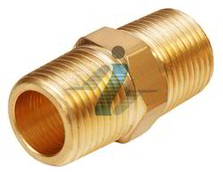 Brass Hex Nipple-BSPT