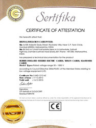Certificate of Attestation