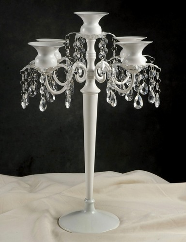 5 Light Candelabra with Crystals