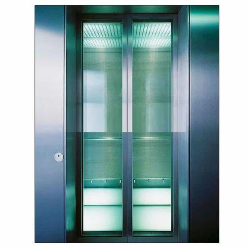 glass door passenger elevator