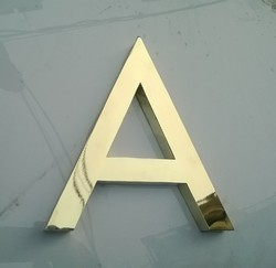 Cut Letters in Brass & Stainless Steel