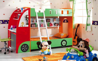 Car Shape Bunk Bed With Study Desk U0026 Chair