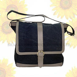 Men's Denim Messenger bag