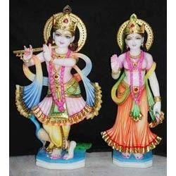 Radha Krishna Marble Statues
