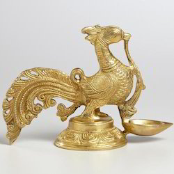 Brass Peacock Sculpture
