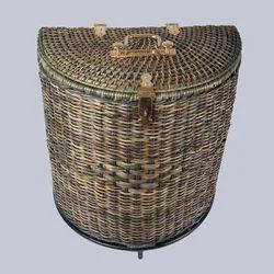 Half Round Cane Storage Basket