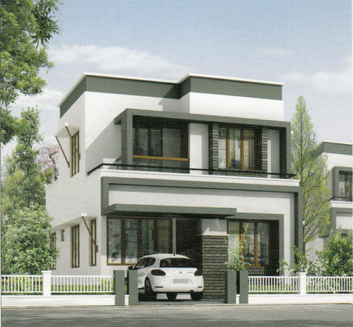 Residential villa low budget villa projects green homes for Budget home builders