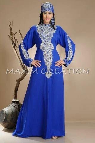Royal Blue Abaya Tunisian Cultural Walima Gown Rs 2600 Piece Id