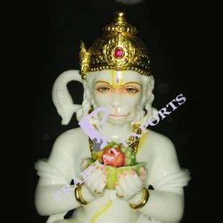 White Makrana Marble Hanuman Statue