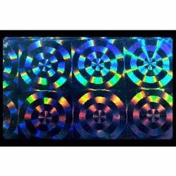 Transparent Stock Pattern Hologram for Plastic Paper Cards