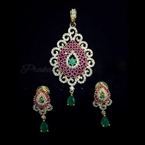 c0cd9afcb Prakash American Diamond Fancy Pendants Sets