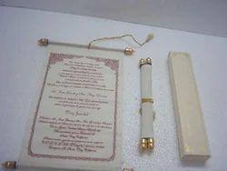 Multi Rectangular And Custom Made Scroll Wedding Invites For Wedding Invites