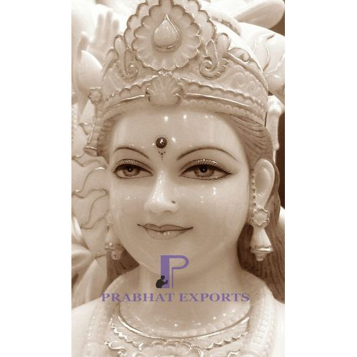 Prabhat White Maa Durga Statue, For Temple & Home