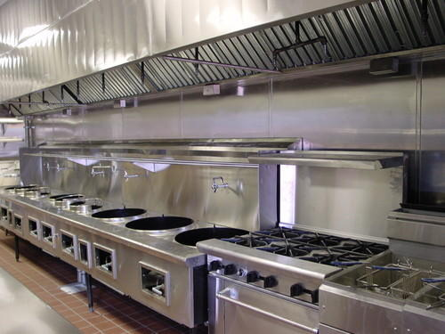 Commercial Kitchen Exhaust Hood, Material Grade: Ss 304