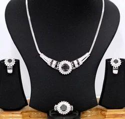White & Black Diamond Pendant