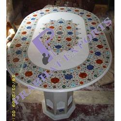 Marble Inlay Dinning Table