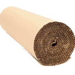 Brown Plain 2 Ply Corrugated Roll