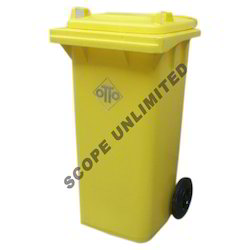 Yellow Color Wheeled Dustbin