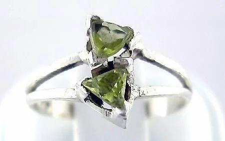 Light Green Sterling Silver Ring
