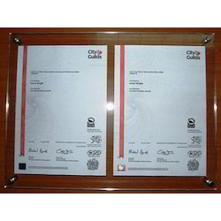 Wall Fitting Certificate Holder