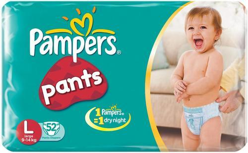 4722f1dd76b Pampers Pants Size Large - (9 to 14 Kgs) Pack of 52 - Diapers4baby ...