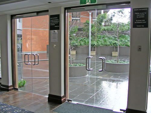 Frameless Toughened Glass Doors Intext Studio New Delhi Id
